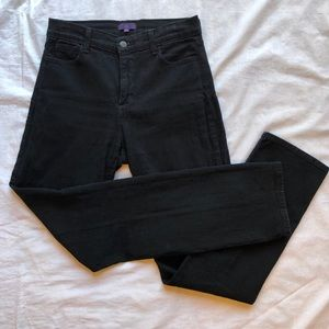 NYDJ Black Straight Leg Jeans